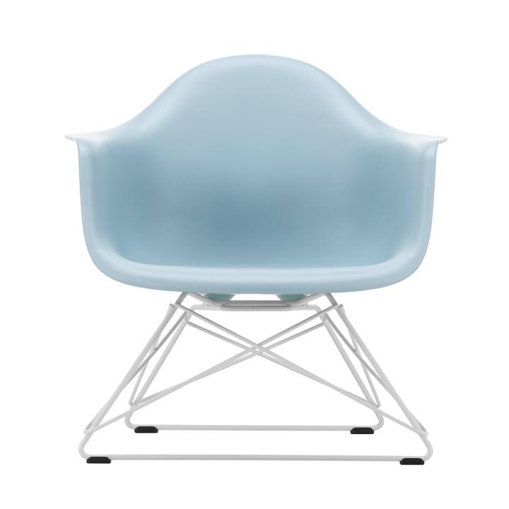 Eames Plastic Armchair LAR von Vitra in weiß / eisgrau (Filzgleiter basic dark)