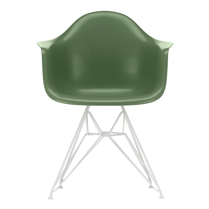Eames Plastic Armchair DAR von Vitra in weiß / forest (Filzgleiter weiß)