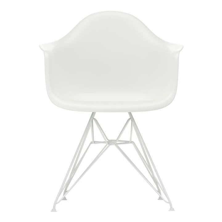 Eames Plastic Armchair DAR von Vitra in weiß / weiß (Filzgleiter weiß)