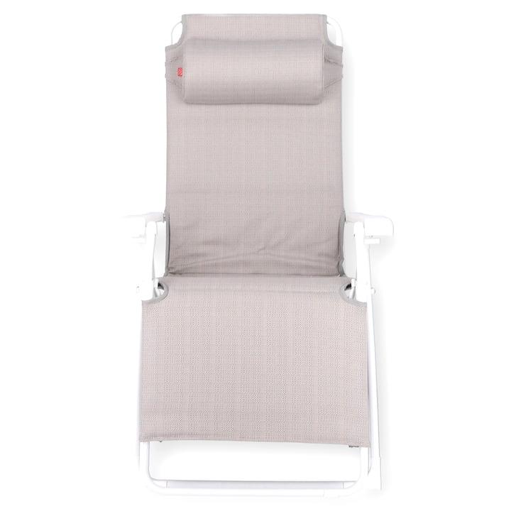Amida soft Relaxliege von Fiam in Aluminium weiß / sea linen