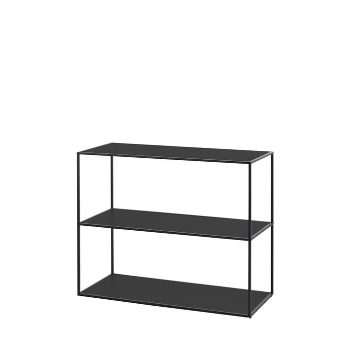 Twin Bücherregal klein (3 Böden) von by Lassen in schwarz
