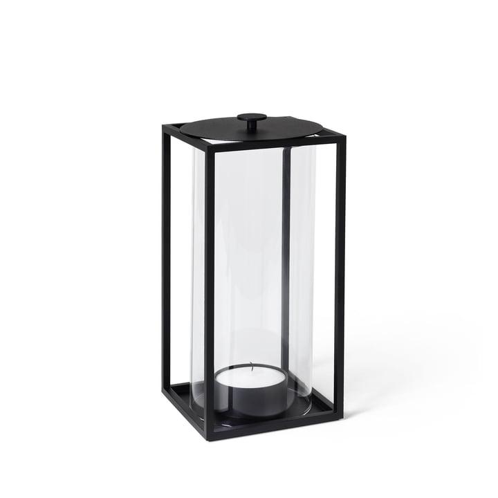 Light'In Windlicht H 20 cm von by Lassen in schwarz