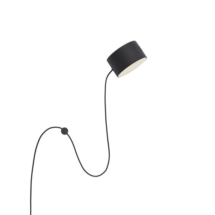 Post LED-Wandleuchte von Muuto in schwarz