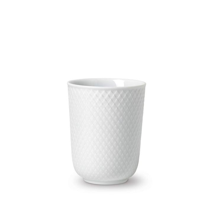 Rhombe Becher 33 cl von Lyngby Porcelæn in weiß