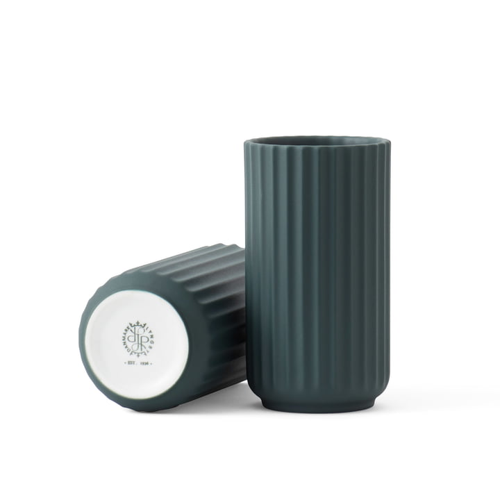 Lyngbyvase H 15,5 cm von Lyngby Porcelæn in grün