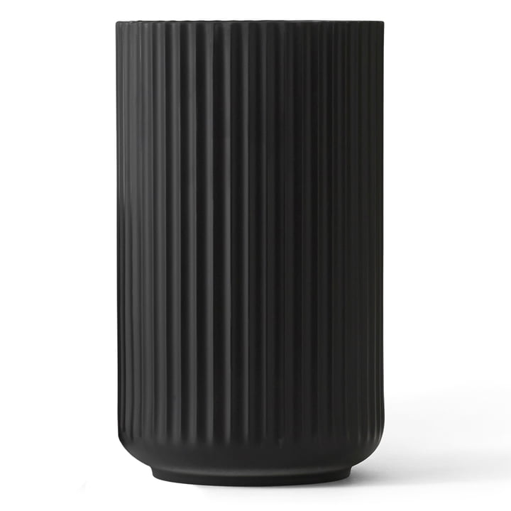 Lyngbyvase schwarz von Lyngby Porcelæn H 38 cm
