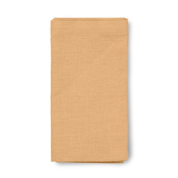 Basic Baumwoll-Tischdecke von Juna in ocker