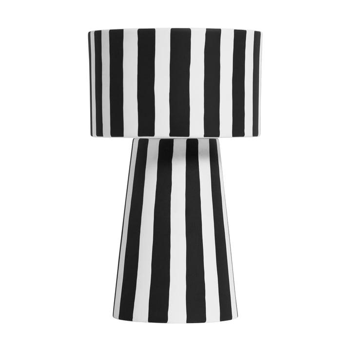 Toppu Übertopf Ø 15 x H 24 cm von OYOY in schwarz / weiß