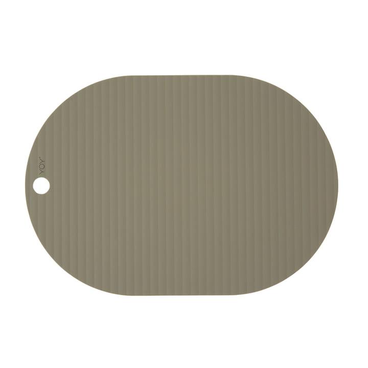Ribbo Tischset oval, oliv von OYOY