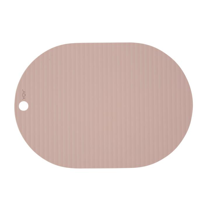 Ribbo Tischset oval, rosa von OYOY