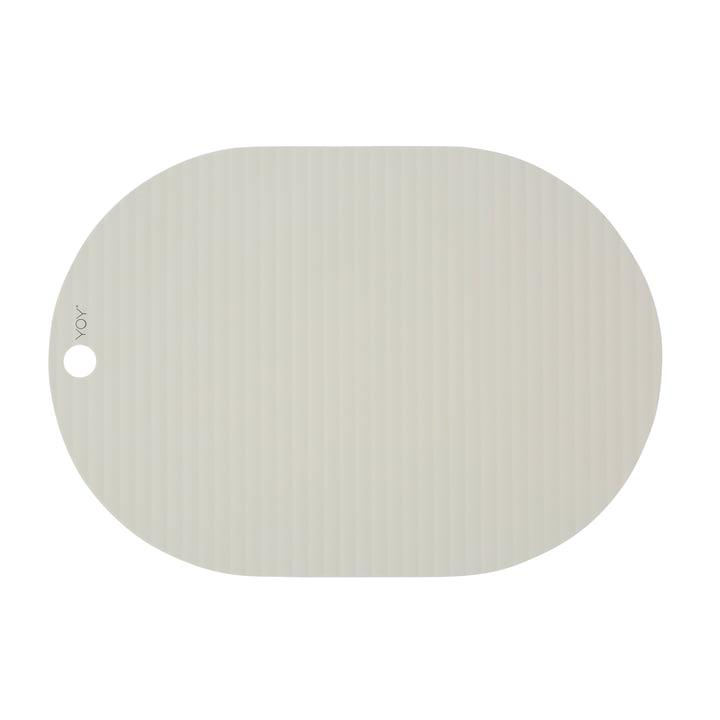 Ribbo Tischset oval, off-white von OYOY