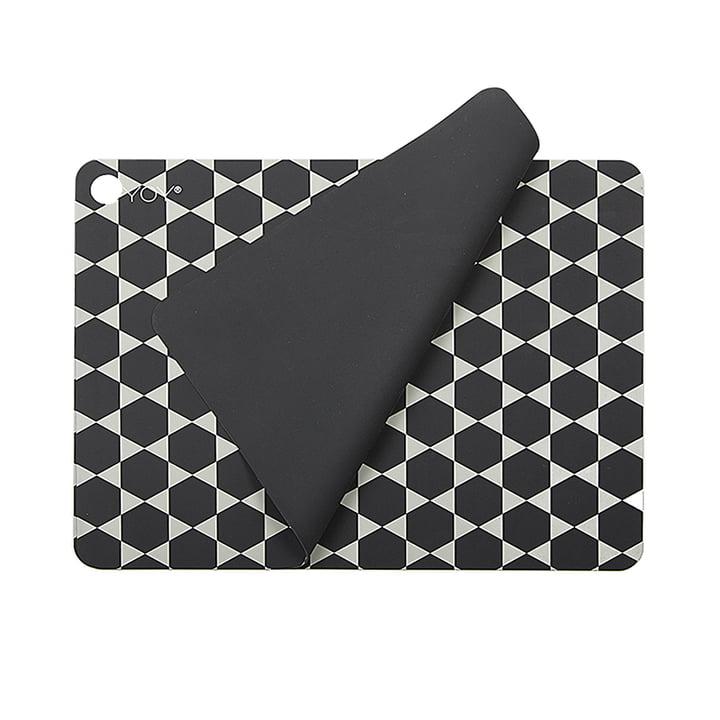 Tischsets Hexagon, dunkelgrau (2er-Set) von OYOY