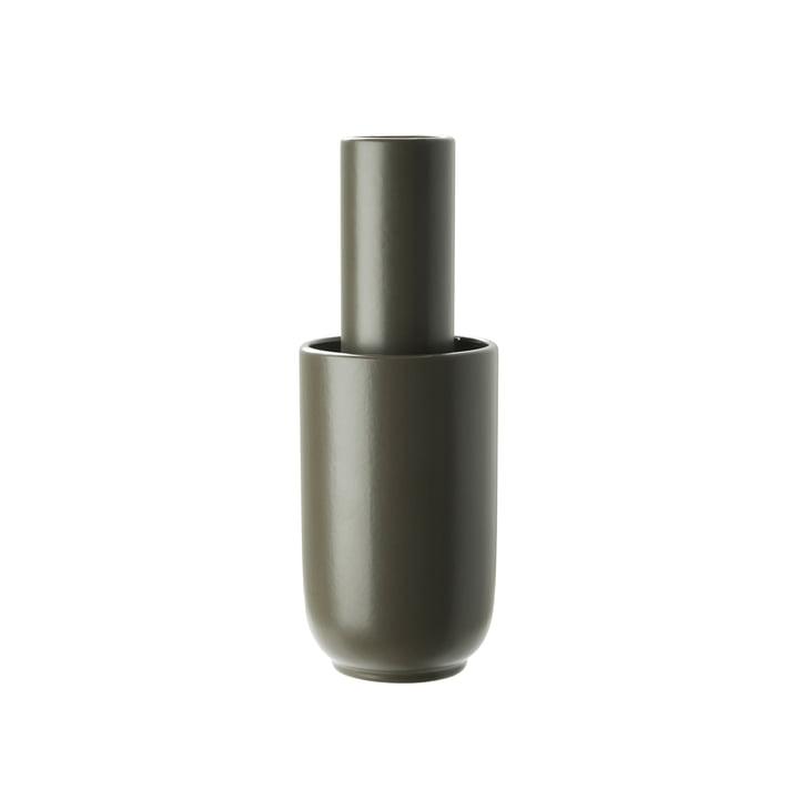 Amel Vase medium von Woud in taupe