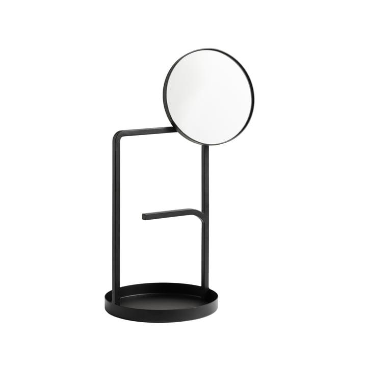Der Muse Tischspiegel von Woud in schwarz