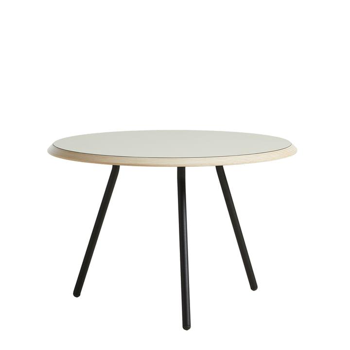 Soround Side Table H 39,5 cm / Ø 60 cm von Woud in Laminat warm grey (Nano)