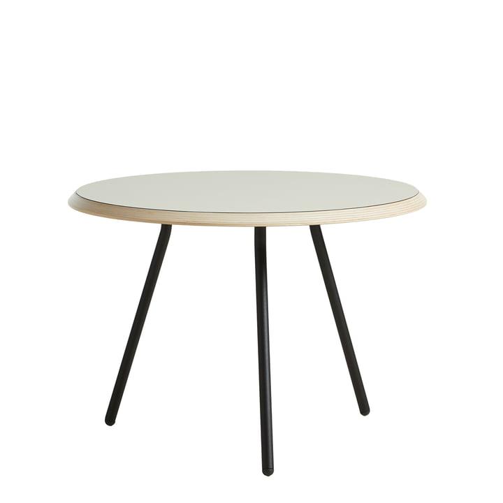 Soround Side Table H 44 cm / Ø 60 cm von Woud in Laminat warm grey (Nano)