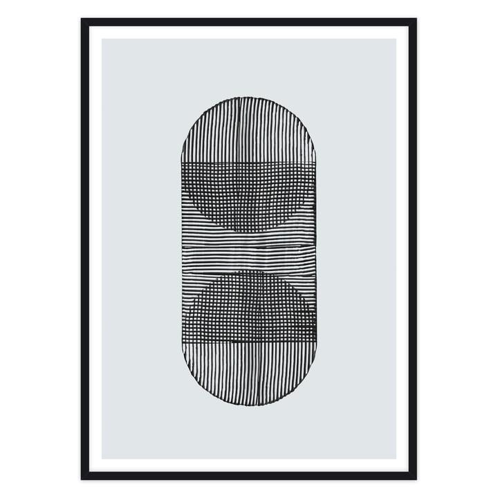 artvoll - linear shapes 02, Rahmen schwarz