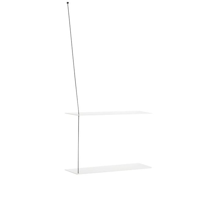 Stedge Wandregal 60 cm von Woud in Eiche weiß lackiert