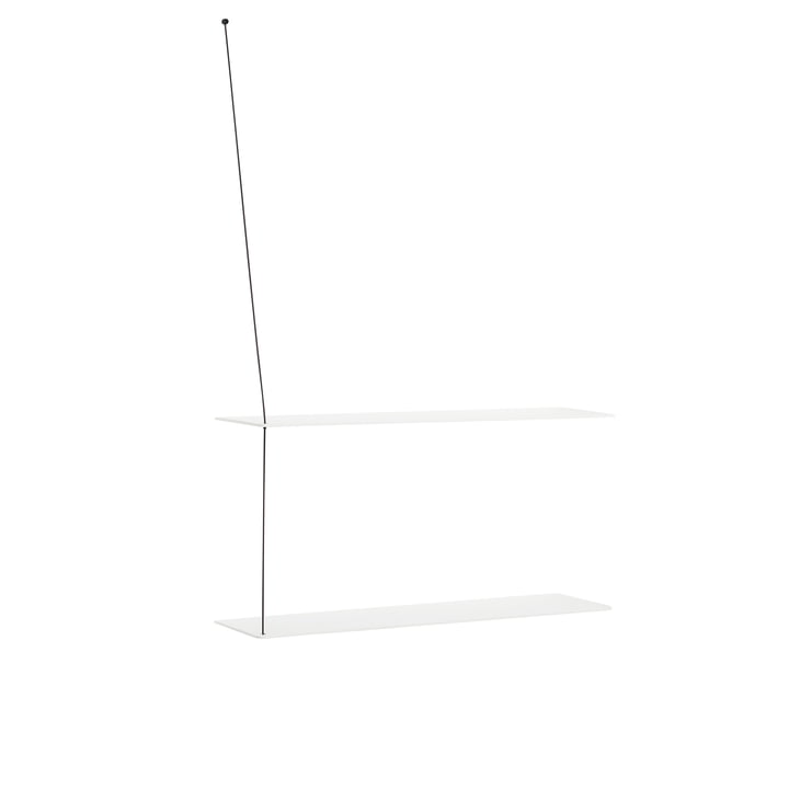 Stedge Wandregal 80 cm von Woud in Eiche weiß lackiert