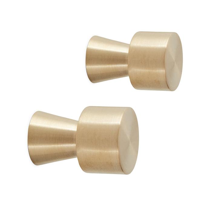 Pin Wandhaken Ø 2,5 x L 3,5 cm , Messing (2er-Set) von OYOY
