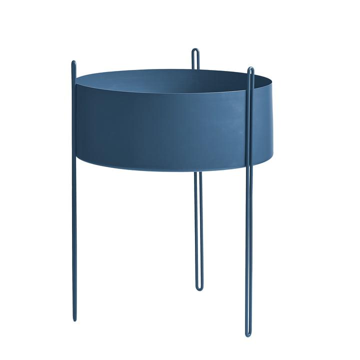 Pidestall Pflanzenbehälter L von Woud in blau