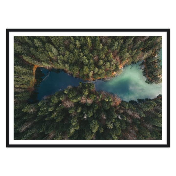 artvoll - Mirror Lake by Tom Hegen, Rahmen schwarz