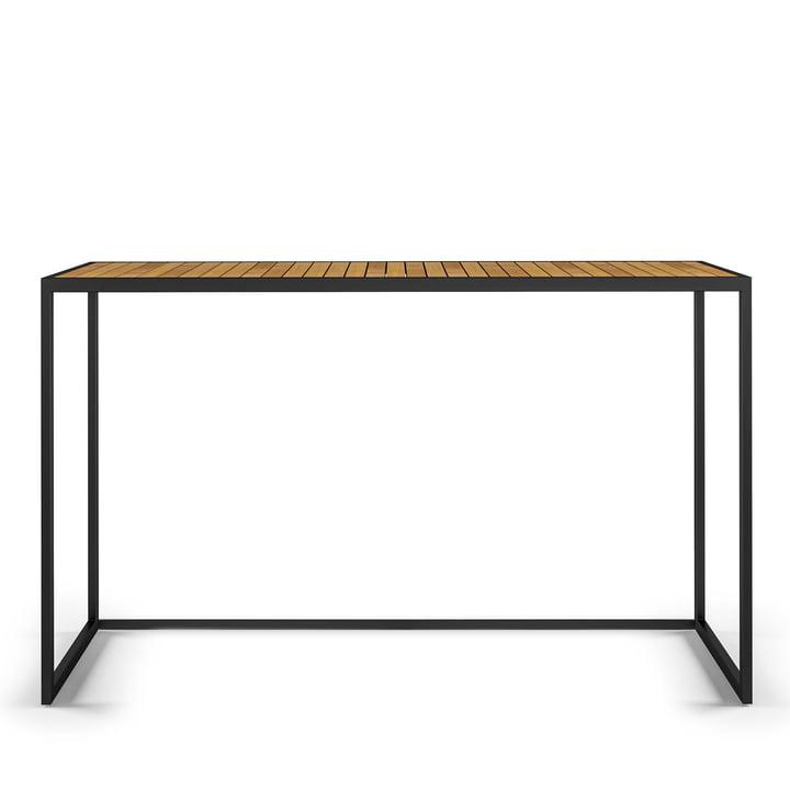 Open Bistro Tisch 150 x 50 cm, Edelstahl / Teak von Röshults