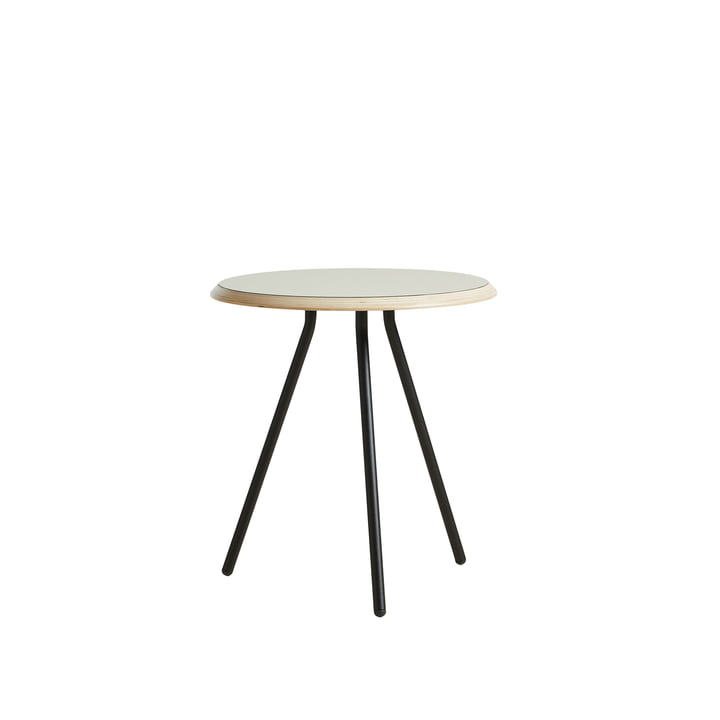 Soround Side Table H 48,3 cm / Ø 45 cm von Woud in Laminat warm grey (Nano)