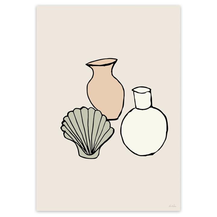 Vasen Poster in Beige von Emilie Luna