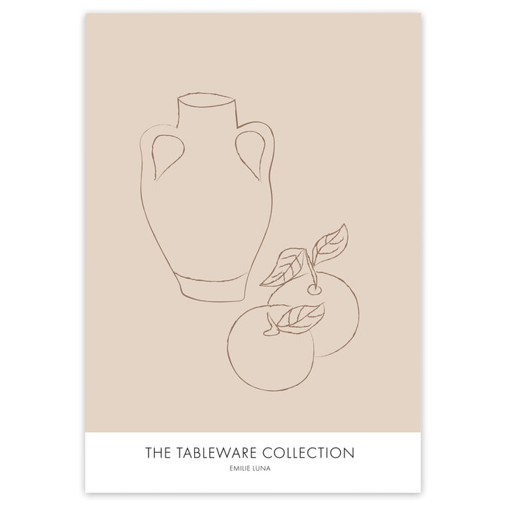 The Tableware Collection Poster von artvoll