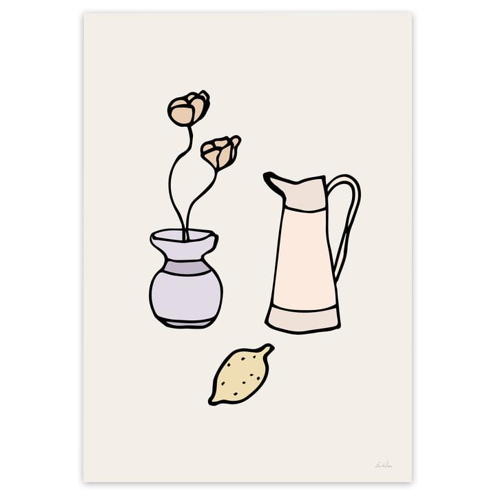 Küchen-Deko Poster in Beige