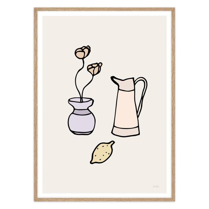 Küchen-Poster mit Vase und Zitrone