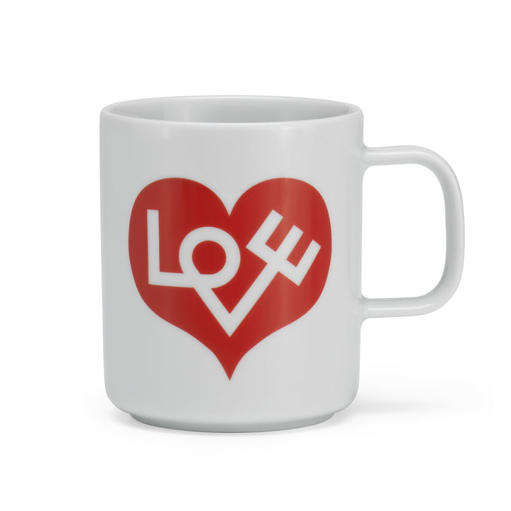 Coffee Mug Love Heart von Vitra in rot