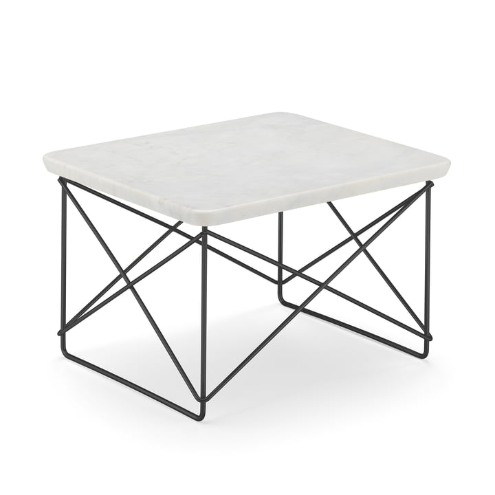 Eames Occasional Table LTR von Vitra in Marmor hell / basic dark