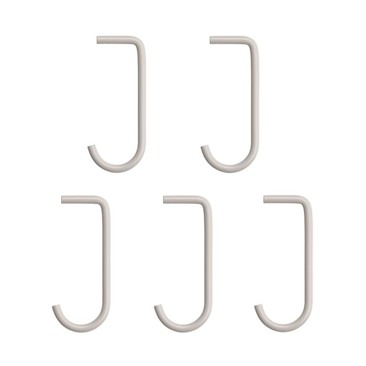 Haken fürMetallboden von String in beige (5er-Set)
