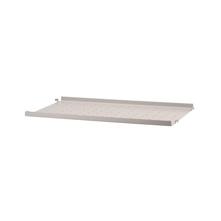 Metallboden mit niedriger Kante 58 x 30 cm von String in beige