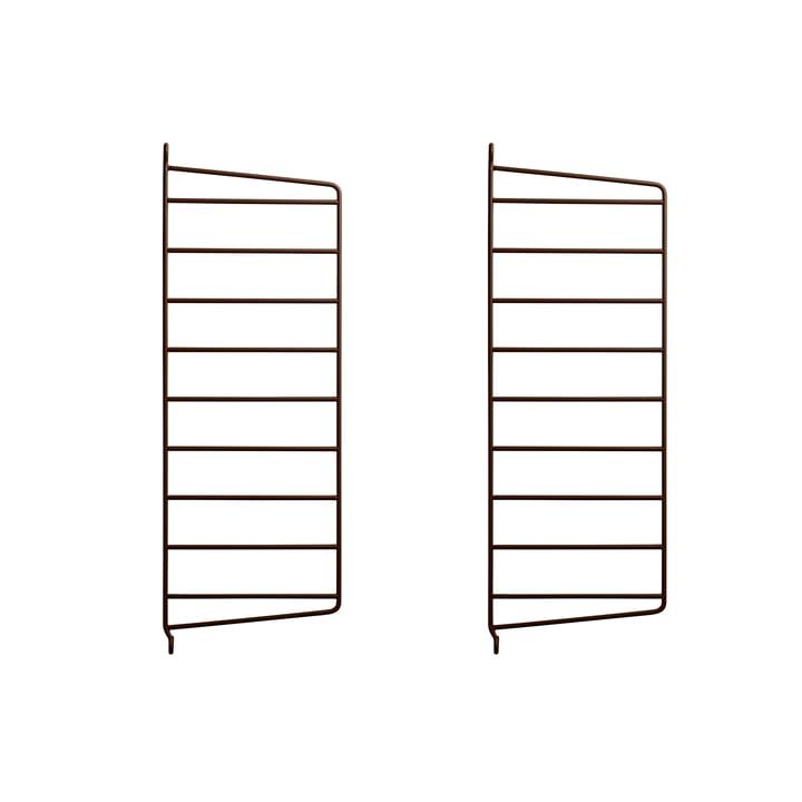 Wandleiter für String Regal 50 x 20 cm (2er-Set) von String in braun
