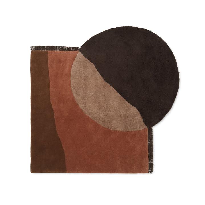 View Tufted Teppich von ferm Living in rot / braun