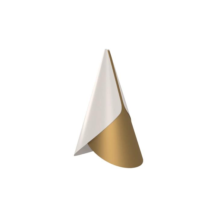 Cornet Lampenschirm, Ø 13.4 x 23.8 cm, Messing / weiß von Umage