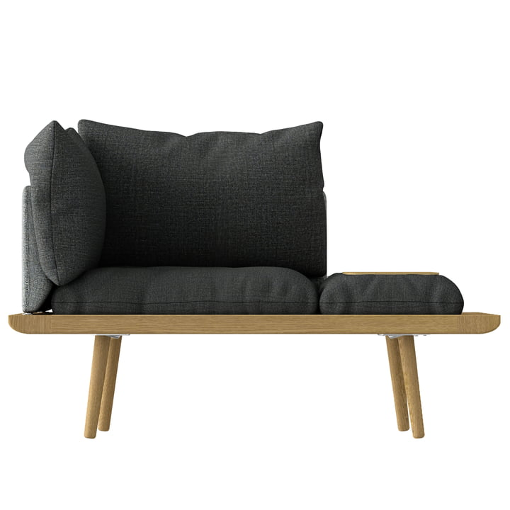 Lounge Around 1.5 Sitzer von Umage in Eiche / slate grey / dark grey