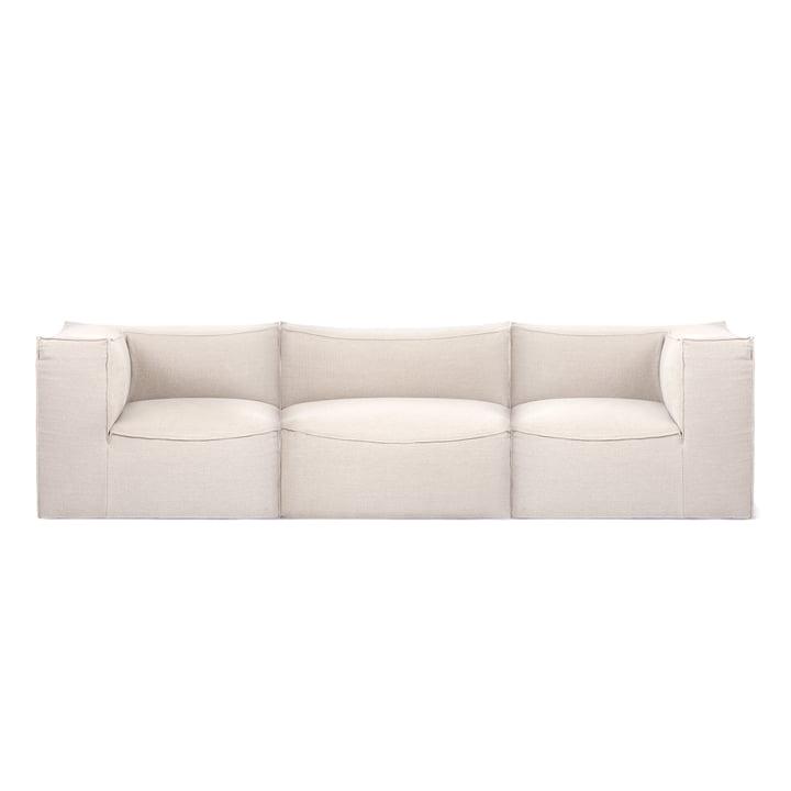 Catena 3-Sitzer Sofa Dry Cotton Slub von ferm Living in off-white