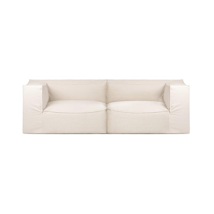 Catena 2-Sitzer Sofa Dry Cotton Slub von ferm Living in off-white