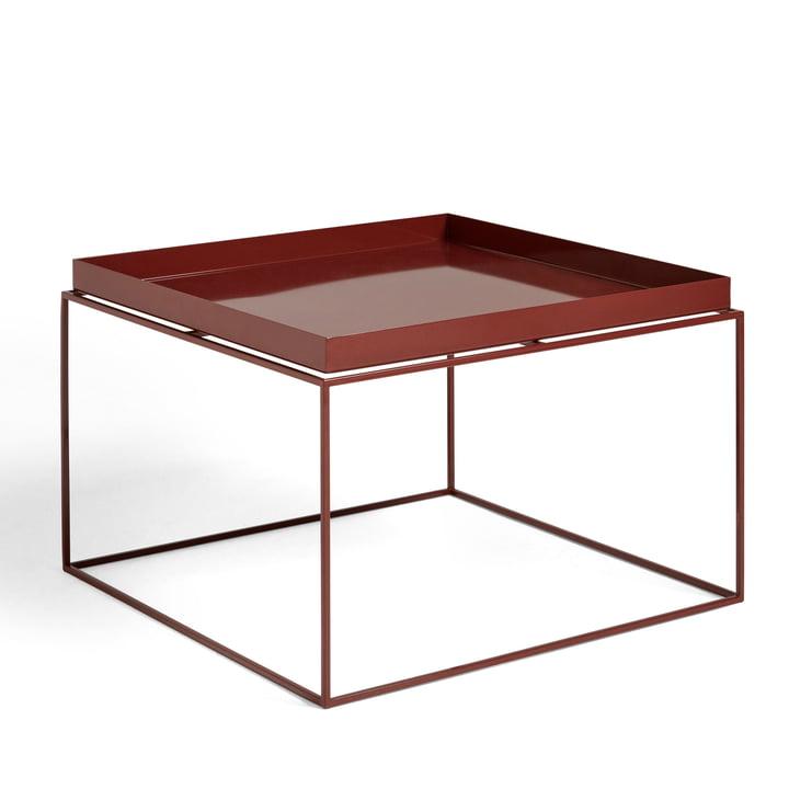 Tray Table 60 x 60 cm von Hay in chocolate glänzend
