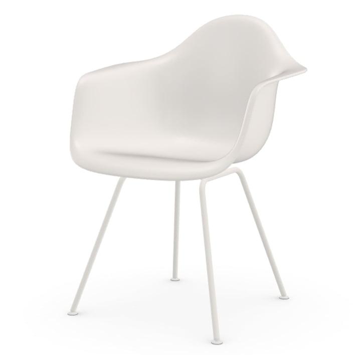 Eames Plastic Armchair DAX von Vitra in weiß / weiß (Filzgleiter weiß)