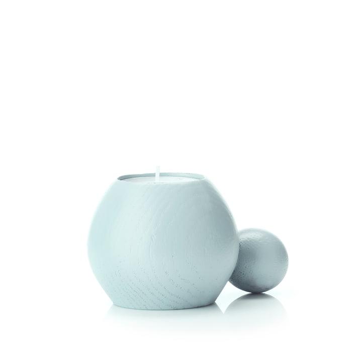 RoundNRound Kerzen- und Teelichthalter von applicata in babyblau