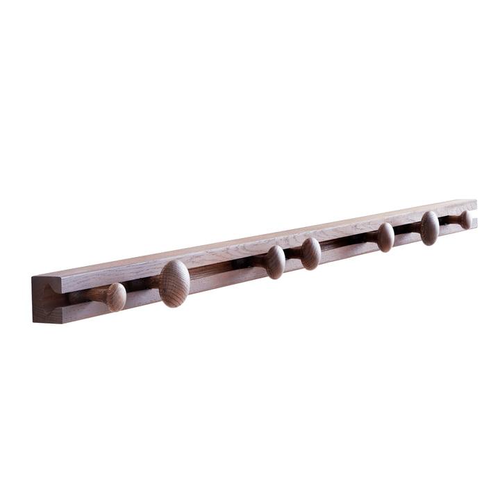 Track Coat Rack Garderobenhalterung 120 cm von applicata in Eiche geräuchert