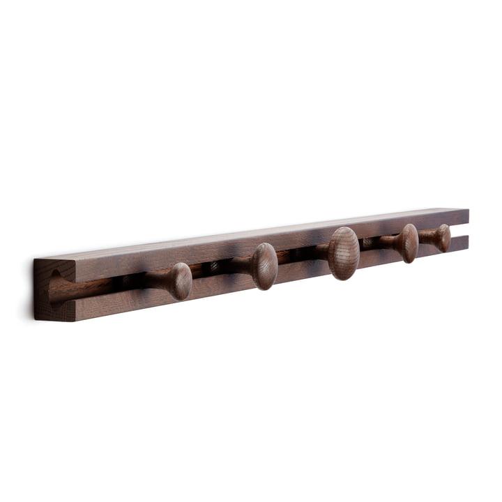 Track Coat Rack Garderobenhalterung 90 cm von applicata in Eiche geräuchert