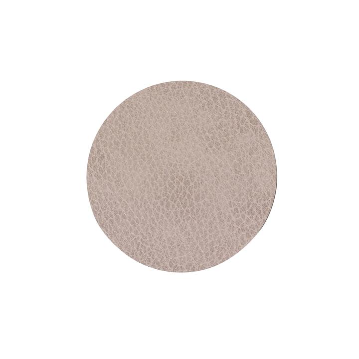 Glasuntersetzer rund Ø 10 cm, Bull warm grey von LindDNA