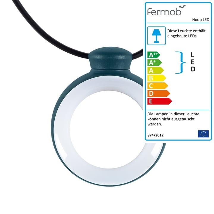 Hoop LED Leuchtgirlande von Fermob in acapulcoblau