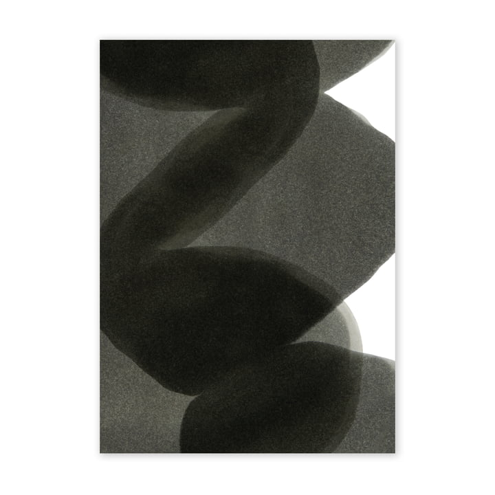 Enso Black II Poster, 50 x 70 cm von Paper Collective